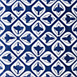 V&A Temara Blue Glazed Ceramic Décor Wall Tile 6 pack