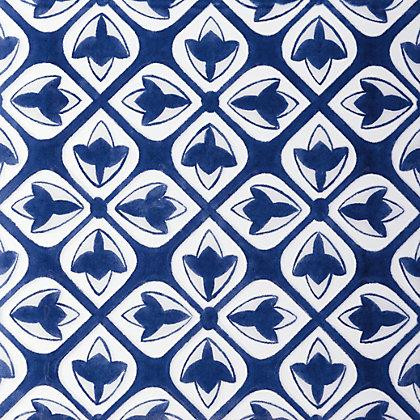 Image for V&A Temara Glazed Ceramic Decor Wall Tile Blue Gloss 198 x 198mm - 6 pack from StoreName