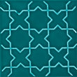 V&A Souk Glazed Ceramic Decor Wall Tile Teal Gloss - 152 x 152mm - 6 pack
