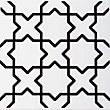V&A Souk Black & White Glazed Ceramic Wall Tile 6 pack
