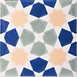 V&A Omar Multicolour Glazed Ceramic Wall Tile 6 pack