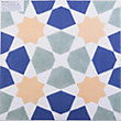 V&A Omar Glazed Ceramic Floor & Wall Tile Multicolour Gloss 331 x 331mm - 9 pack