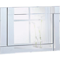 Double Bevelled Rectangular Mirror.