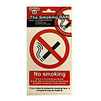 Vehicle No Smoking Sign - Red/Black
