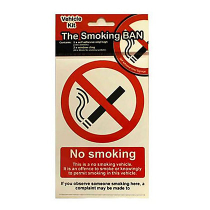 Image for Vehicle No Smoking Sign - Red/Black from StoreName