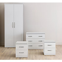 Hygena White & White Gloss Double Room Set Packages