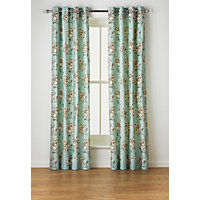 Heart of House Felicity Lined Eyelet Curtains - Duck Egg.