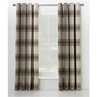 Heart of House Angus Eyelet Curtains 117 x 137cm - Neutral.