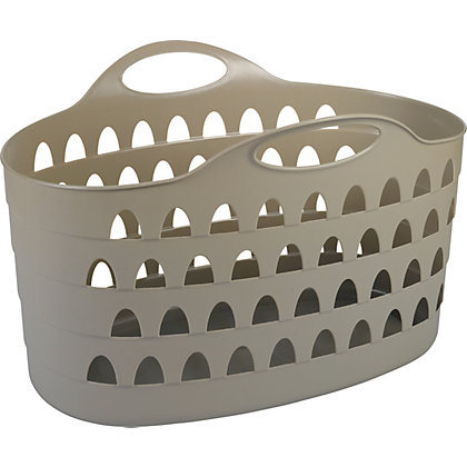 Image for Strata 60L Laundry Basket - Putty from StoreName