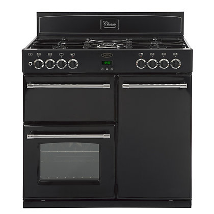 Image for Belling Classic 90DFT Dual Fuel Range Cooker - Black. from StoreName