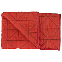 ColourMatch Red Bedspread - 135 x 240cm.