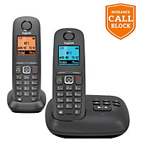 Gigaset A550A Cordless Telephone with Answer Machine - Twin.