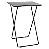 Habitat Airo Metal Folding Table - Black.
