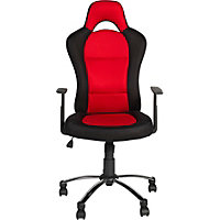 High-Back Gas Lift Gaming Chair - Black/Red.
