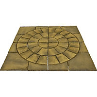 Brett Walton Paving Circle with Corners 2.17m 4.71sq m 48 Pack - Cashmere