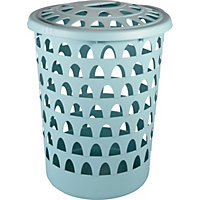 Strata Tall Round Duck Egg Laundry Hamper