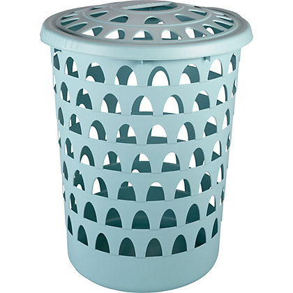 Image for Strata Tall Round Duck Egg Laundry Hamper from StoreName