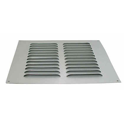 Image for Louvre Vent - Satin Silver Aluminium - 229x229mm from StoreName