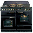 Rangemaster Classic 73660 110cm Natural Gas Cooker - Black & Brass