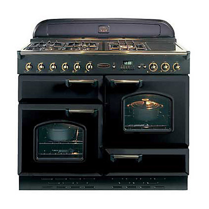 Image for Rangemaster Classic 73660 110cm Natural Gas Cooker - Black & Brass from StoreName