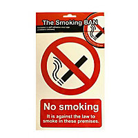 General No Smoking Sign - Red/Black
