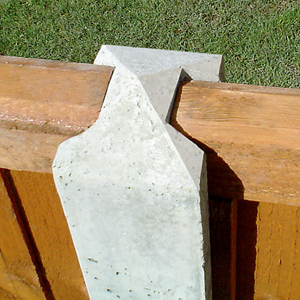 Image for Forest Lightweight Concrete Fence Posts - Pack of 3 from StoreName