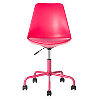 Mid-Back Gas Lift Brady Office Chair - Pink