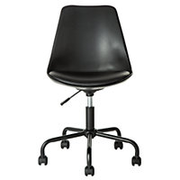 Mid-Back Gas Lift Brady Office Chair - Black.