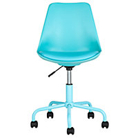 Mid-Back Gas Lift Brady Office Chair - Blue