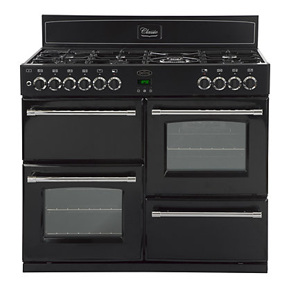 Image for Belling Classic 100DFT Dual Fuel Range Cooker - Black from StoreName