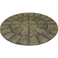 Brett Walton Paving Circle 1.85m 2.69sq m 36 Pack - Mink