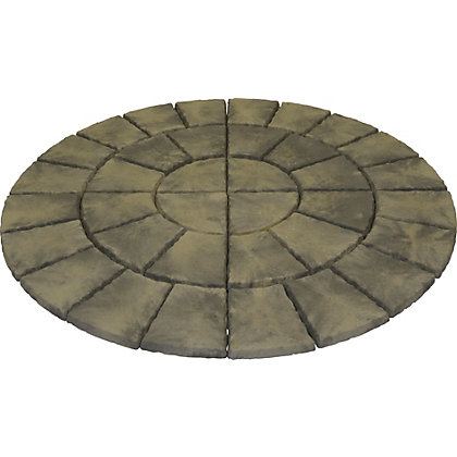 Image for Brett Walton Paving Circle 1.85m 2.69sq m 36 Pack - Mink from StoreName