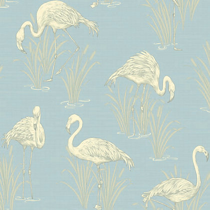 Image for Lagoon Wallpaper - Soft Blue from StoreName