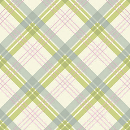 Image for Fairburn Wallpaper - Green & Pink from StoreName