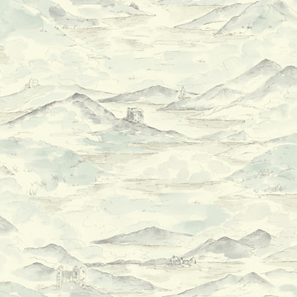 Image for Highland Wallpaper - Cream & Blue from StoreName