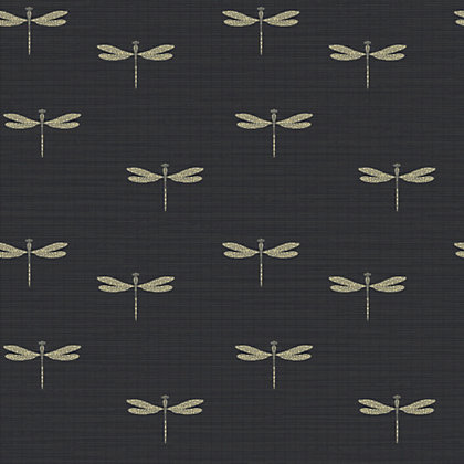 Image for Waters Edge Wallpaper - Black from StoreName