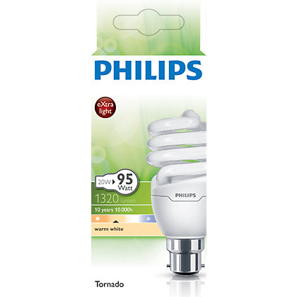 Image for Philips Energy Saver (CFL) Spiral BC 11W Bulb from StoreName