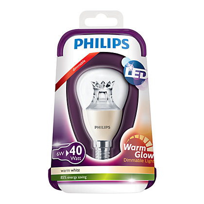 Image for Philips LED Dimmable Mini Globe SES 5W Light Bulb from StoreName