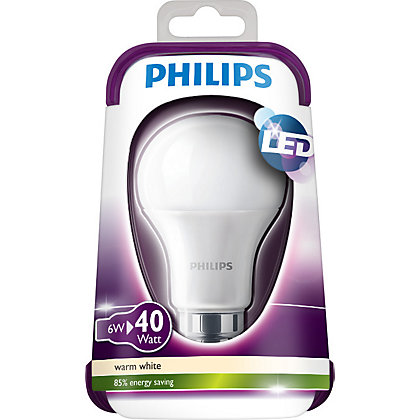 Image for Philips LED Classic BC 6W Bulb from StoreName