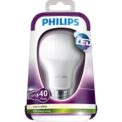 Image for Philips LED Classic ES 6W Bulb from StoreName