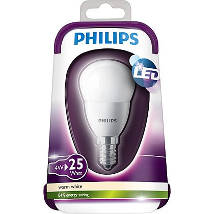 Image for Philips LED Mini Globe SES 4W Bulb from StoreName