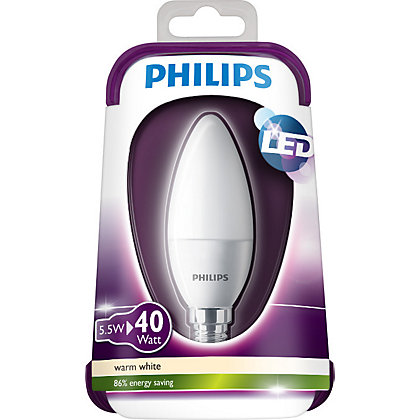 Image for Philips LED Candle SES 5W Bulb from StoreName