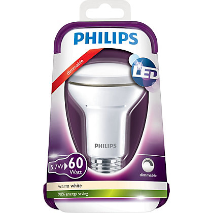 Image for Philips Dimmable LED R63 ES 6W Light Bulb from StoreName