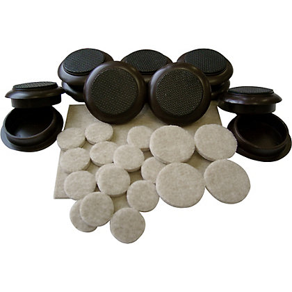 Image for Felt Pads And Castor Cups - 59 Pack from StoreName