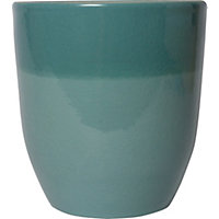 Two Tone Teal Pot - 15cm