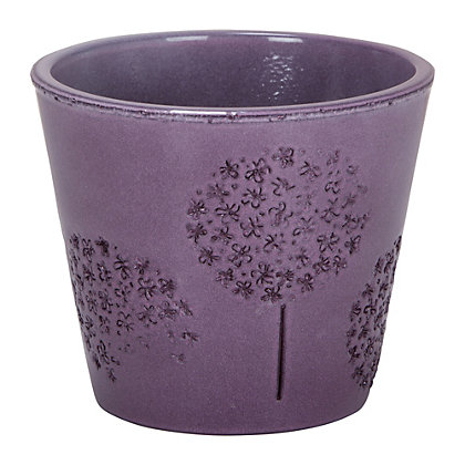 Image for Purple Allium Embossed Pot - 13cm from StoreName