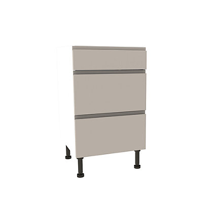 Image for Simply Hygena Kensal Cashmere Premium 3 Drawer Base Unit - 500mm from StoreName