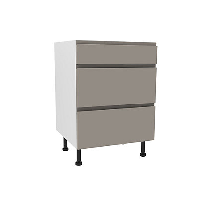 Image for Simply Hygena Kensal Cashmere Premium 3 Drawer Base Unit - 600mm from StoreName