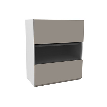Image for Simply Hygena Kensal Cashmere Glass Wall Cabinet - 500mm from StoreName