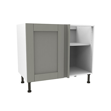 Image for Simply Hygena Southfield Grey High Line Corner Base Unit - 1000mm from StoreName